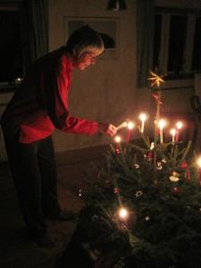 Mor tænder juletræ 2011